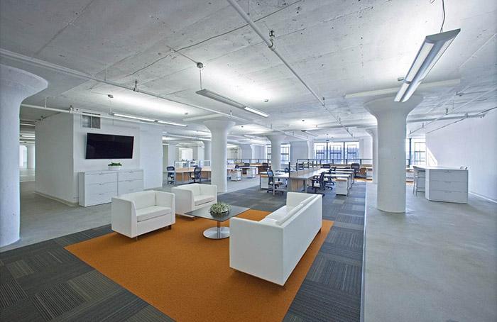 吕四港开发区办公室装修如何扩大小办公室空间感?
